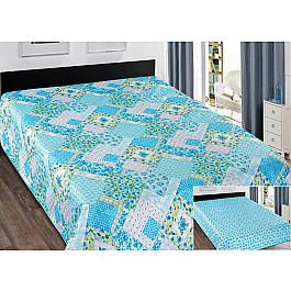 Покрывало Марианна Покрывало Elegant (пэчворк) №077, голубой, 220*240 см paulmann 70077
