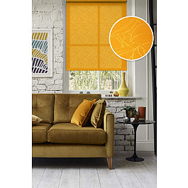 Шторы рулонные Эскар Рулонная штора Адель, оранжевый, 43 см фиксатор гибкий esse оранжевый 43 см