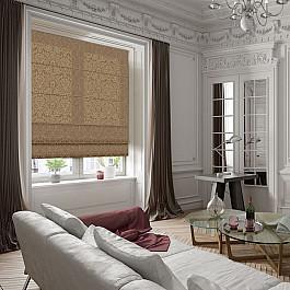 Римские шторы Эскар Римская штора Эмоджи, коричневый, 100 см
