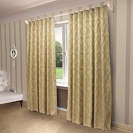 Шторы для комнаты Sanpa Портьеры Герда, золотой, 200*280 см ткань арта 1 п м 280 см цвет золотой