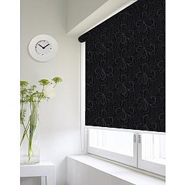 Фото - Шторы рулонные ролло Идея Рулонная штора ролло lux Etamin цветы, черный, 120 см etamin