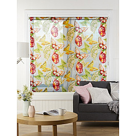 Шторы рулонные Идея Рулонная штора mini Samba бабочки, красный, желтый, зеленый, 100 см набор стяжек hyperline gt 160m 160x2 5мм 500шт 100 белый 100 красный 100 зеленый 100 желтый 100 черный