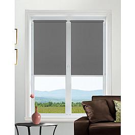 цена на Шторы рулонные Идея Рулонная штора mini Satin, темно-серый, 68 см