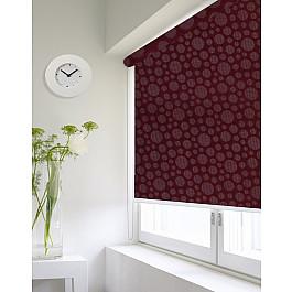 Фото - Шторы рулонные ролло Идея Рулонная штора ролло lux Etamin круги, бордовый, 140 см etamin