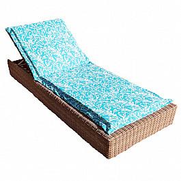 """Подушка для сидения Kauffort Подушка на шезлонг """"Sky Corals"""", дизайн 190"""
