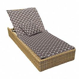 """Подушка для сидения Kauffort Подушка на шезлонг """"Brown Garden"""", дизайн 190"""