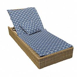 """Подушка для сидения Kauffort Подушка на шезлонг """"Blue Garden"""", дизайн 190"""