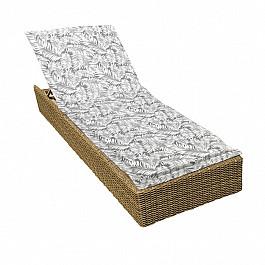 """Подушка для сидения Kauffort Подушка на шезлонг """"Grey Palma"""", дизайн 190"""