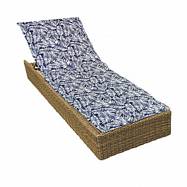 "Подушка для сидения Kauffort Подушка на шезлонг ""Blue Palma"", дизайн 190"