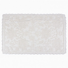 Коврик для ванной Arya Коврик для ванной с гипюром Arya Andy, экрю, 50*80 см коврик для ванной с рисунком clarisse 700 г м²