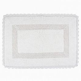 Коврик для ванной Arya Коврик для ванной с гипюром Arya Lupen, белый, 60*90 см коврик для ванной с рисунком clarisse 700 г м²