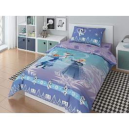 Постельное белье Disney КПБ Disney Olaf happy с наволочками 50*70 (1.5 спальный) disney 50 70 1153157