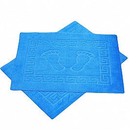 Коврик для ванной голубой, 50х70 см