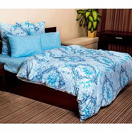 Постельное белье Ночь Нежна КПБ бязь стандарт Ночь Нежна Лунный свет, синий (2 спальный) лунный свет