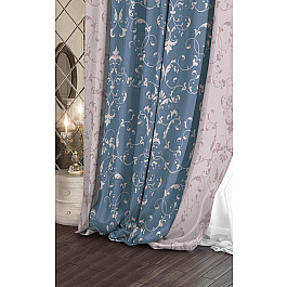 Шторы для комнаты Волшебная ночь Шторы Версаль Сатен Scenic, голубой, бежевый шторы garden классические шторы версаль цвет бежевый