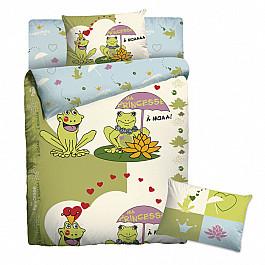 Постельное белье Мармелад КПБ Мармелад Веселые лягушки с наволочкой 50*70 (1.5 спальный) цена