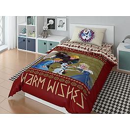 Постельное белье Disney КПБ Disney Olaf Warm wishies с наволочкой 50*70 (1.5 спальный) disney 50 70 1153157