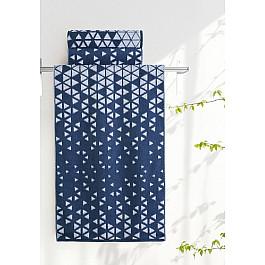 Полотенца Нордтекс Полотенце Aquarelle Орион-1, белый и темно-синий, 50*90 см цена