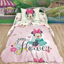 Постельное белье Disney КПБ Minnie Mouse с наволочкой 70*70, розовый (1.5 спальный) цена