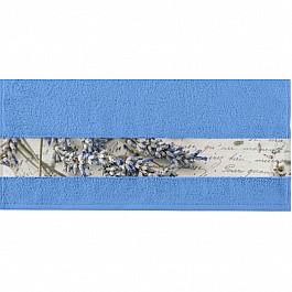 Полотенца Нордтекс Полотенце Aquarelle Фотобордюр письмо, спокойный синий, 50*90 см полотенце aquarelle адриатика цвет синий 50 х 90 см 702470