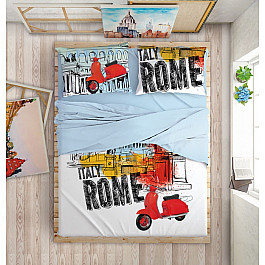 Постельное белье Love me КПБ LOVE ME Holiday in Rome на пуговицах (2 спальный) постельное белье love me кпб love me dreamcatcher на пуговицах 2 спальный