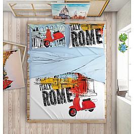 Постельное белье Love me КПБ LOVE ME Holiday in Rome на пуговицах (Евро) постельное белье евро love me love me lo046juerze1