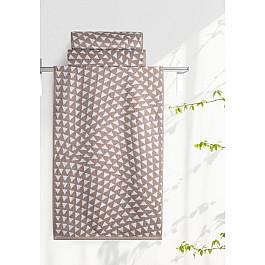 Полотенца Нордтекс Полотенце Aquarelle Борнео-2, мокко, белый, 35*70 см полотенце махровое aquarelle борнео вид 1 цвет мокко белый