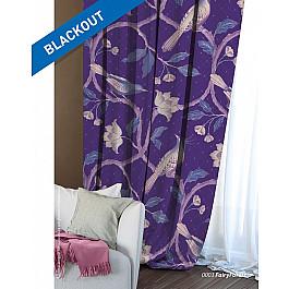 Шторы для комнаты Волшебная ночь Шторы Этно Блэкаут Fairy Forest, фиолетовый шторы тканевые seven fairy home textiles 6036 5