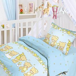 Постельное белье Облачко КПБ Мишки-Малышки (Новорожденный), голубой сумка vita vita mp002xw1is3r