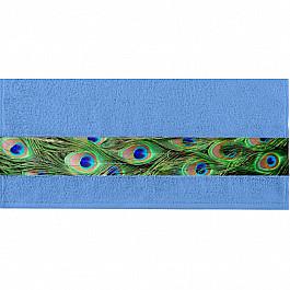 Полотенца Нордтекс Полотенце Aquarelle Фотобордюр павлин-2, спокойный синий, 50*90 см цена