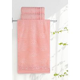 Полотенца Нордтекс Полотенце Aquarelle Лотос, розово-персиковый, 70*140 см полотенца нордтекс полотенце aquarelle лотос ваниль 70 140 см