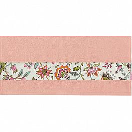Полотенца Нордтекс Полотенце Aquarelle Фотобордюр цветы-2, розово-персиковый, 70*140 см полотенце aquarelle розы 1 цвет розово персиковый коралловый 35 х 70 см