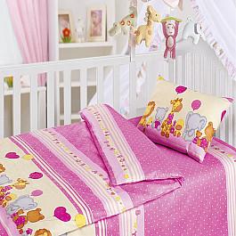 Постельное белье Облачко КПБ День Рождения (Новорожденный), розовый кпб облачко день рожденья ясли