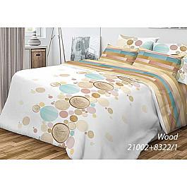 Постельное белье Волшебная ночь КПБ Ранфорс Wood с наволочками 70*70 (2 спальный)
