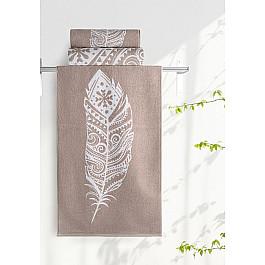 Полотенца Нордтекс Полотенце Aquarelle Борнео-3, мокко, белый, 70*140 см полотенце махровое aquarelle борнео вид 1 цвет мокко белый