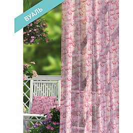 Шторы для комнаты Волшебная ночь Комплект штор ПРОВАНС Вуаль Rose, розовый, 270 см
