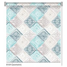 Шторы рулонные ролло Волшебная ночь Рулонная штора ролло Geometric, дизайн 0104, 120 см geometric