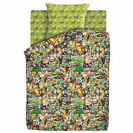 Постельное белье Непоседа КПБ 1.5 хлопок Emoji (70х70) рис. 9030-1/9031-1 Футбол random color ball emoji round keychain