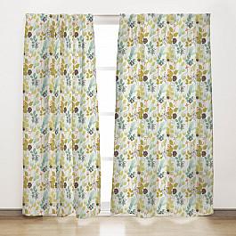 Шторы для комнаты Солнечный дом Комплект штор Осенний вальс, 165*270 см комплект из перламутра и кошачьего глаза осенний бал анпр нкг 544