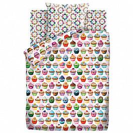 Постельное белье Непоседа КПБ 1.5 хлопок Emoji (70х70) рис. 9029-1/8969-1 Капкейк random color ball emoji round keychain