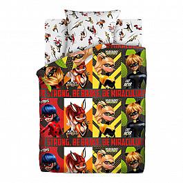 Постельное белье Непоседа КПБ 1.5 хлопок LadyBug (70х70) рис. 16093-1/16094-1 Супергерои the ladybug ring