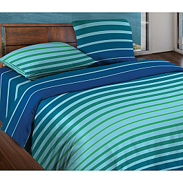 КПБ 1,5 БИО Комфорт 'WENGE Motion' КБВм-11 рис. Stripe Blue mint 15184 вид 8