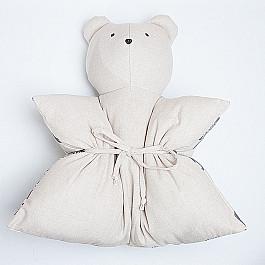 Декоративная подушка Нивасан Декоративная подушка Мишка, однотонный, серый декоративная подушка нивасан декоративная подушка мишка оранжевый