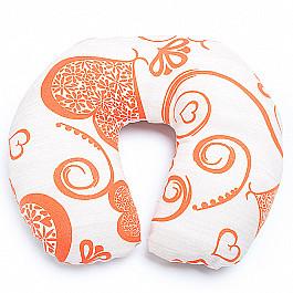 Декоративная подушка Нивасан Подушка под шею Ассорти-5, оранжевый декоративная подушка нивасан декоративная подушка мишка оранжевый