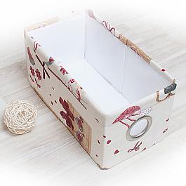 Кофры для хранения вещей Декоративная корзинка Яна, малая, бордовый корзинка для хранения garden rattan