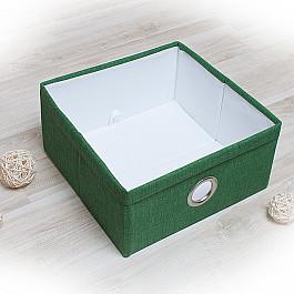 Кофры для хранения вещей Декоративная корзинка Фальсо-3, средняя, зеленый корзинка для хранения garden rattan