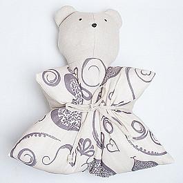 Декоративная подушка Нивасан Декоративная подушка Мишка, с рисунком, серый декоративная подушка нивасан декоративная подушка мишка оранжевый