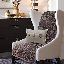 Чехлы для мебели Нивасан Накидка на кресло Доротея - 4, темно-коричневый цена