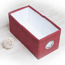 Кофры для хранения вещей Декоративная корзинка Фальсо-1, малая, бордовый корзинка для хранения garden rattan