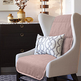 Чехлы для мебели Нивасан Накидка на кресло Аделина - 3, коричневый цена